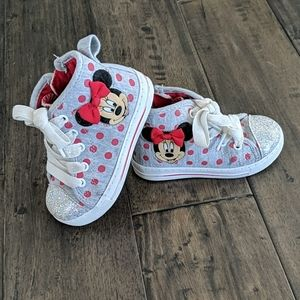 Girls Minnie Mouse High-Tops - Great Condition!